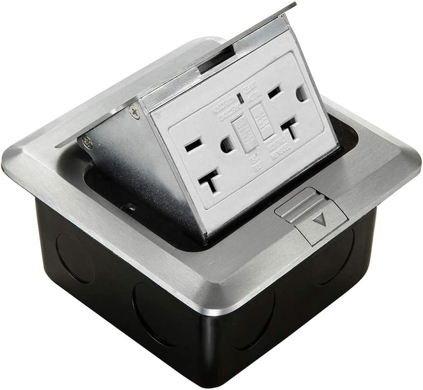 Pop Up Floor Box Stainless Steel  with UL listed Receptacle