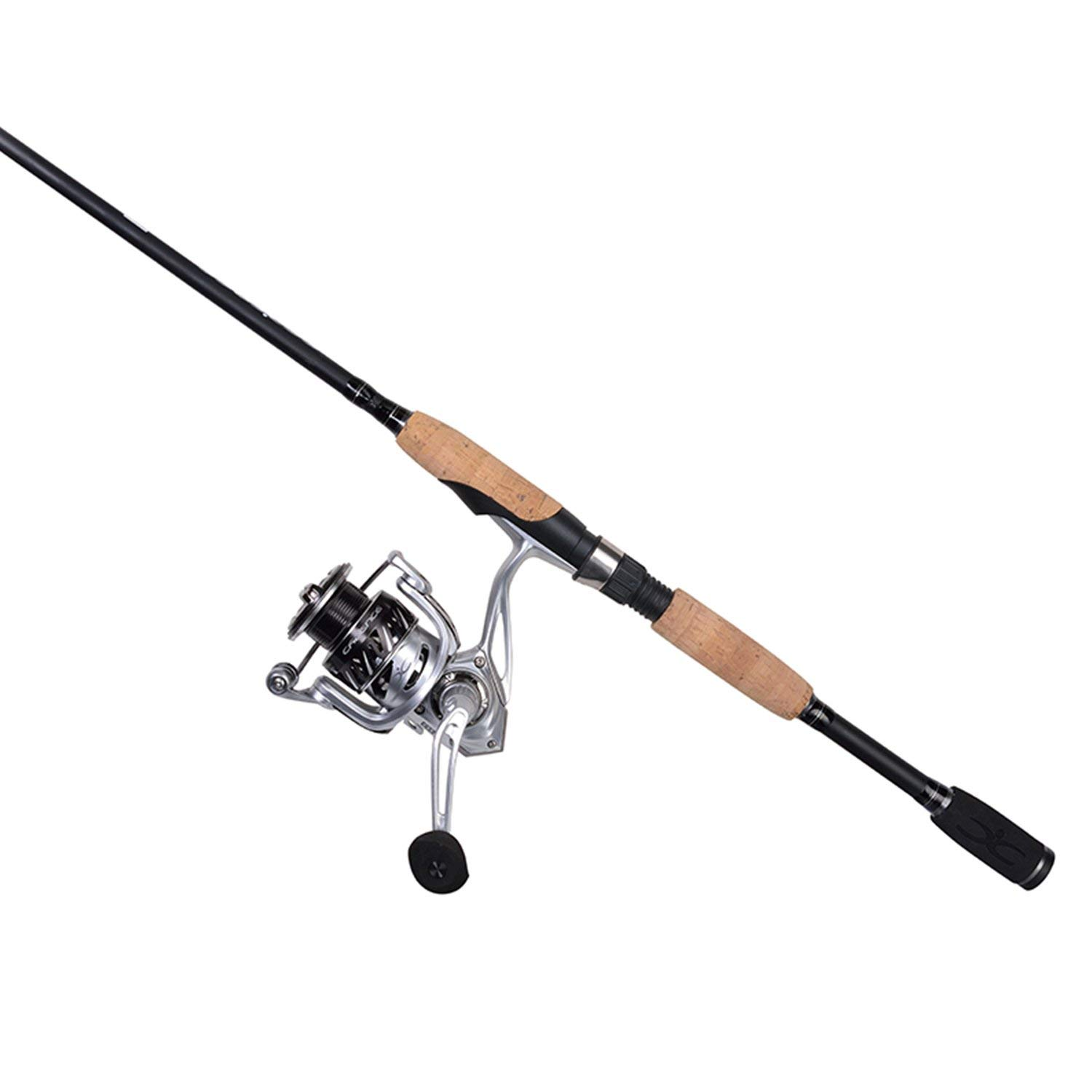 Cadence CC6 Spinning Combo Lightweight with 24-Ton Graphite Rod Aluminum Frame 7 1 Corrosion Resistant Bearings Carbon Rotor Side Plate Spinning Reel Rod Combo