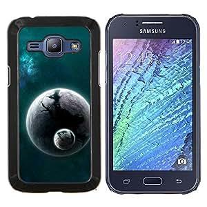 TECHCASE---Cubierta de la caja de protección para la piel dura ** Samsung Galaxy J1 J100 ** --Espacio Planet Galaxy Estrellas 25