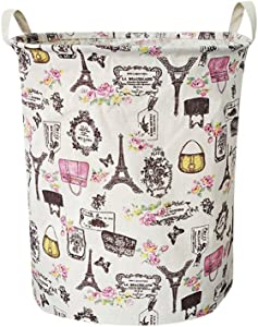 Fine Waterproof Foldable Laundry Hamper, Dirty Clothes Laundry Basket, Large Canvas Fabric Lightweight Storage Basket/Toy Organizer/Dirty Clothes Collapsible