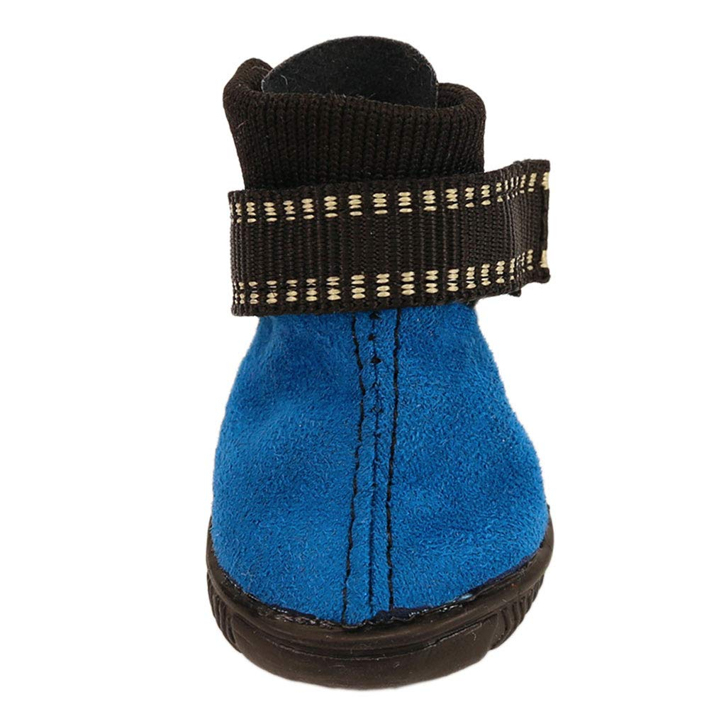 bluee Puppy shoes Autumn and Winter Dog Boots Candy color Section Warm Cotton shoes Pet Teddy Dog shoes Than Xiong VIP (color   bluee)