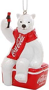"Kurt S. Adler YAMCC1124 Coca-Cola Polar Bear Ornament, 3.5"", Red"