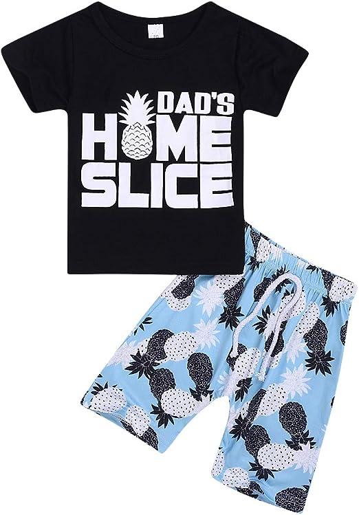 2Pcs Baby Boys Summer Clothing Sets Cute Mamas Boy Sleeveless Tank Tops T-Shirt+Palm Shorts Outfits