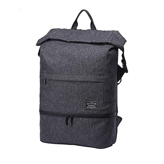 aff66897833 Roll Top Cabin Backpack Flight Approved Hand Luggage - Causal Daypacks  Laptop Business Bag Waterproof Rucksack For Camping Hiking TAAMBAB:  Amazon.co.uk: ...