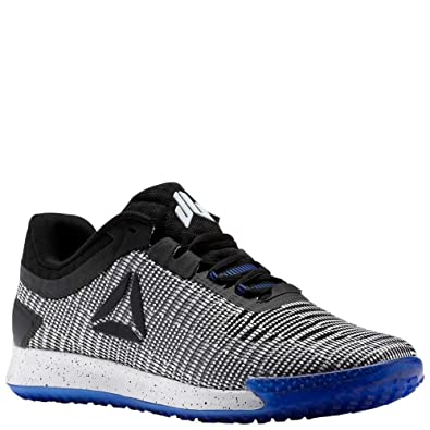 2cfb8373dc5946 Reebok JJ II Shoe Mens Training 7.5 White-Black-Acid Blue