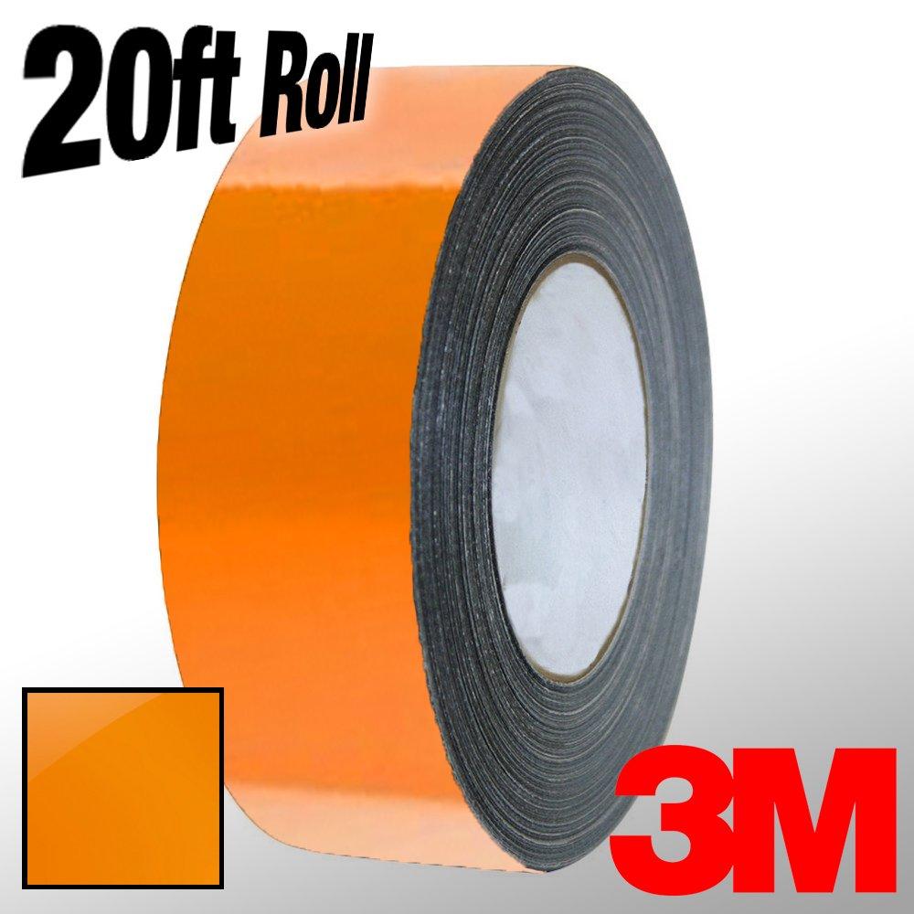 VViViD 3M 1080 Burnt Orange Gloss Vinyl Detailing Wrap Pinstriping Tape 20ft Roll 5559015387 4 x 20ft