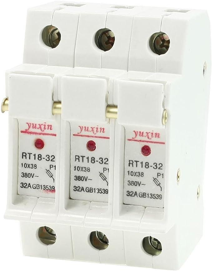 Modular 10 x 38mm Fuseholder Screw DIN Rail 690V 3 Pole Modulostar®, 32A