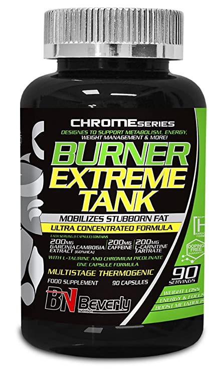 Beverly Nutrition Burner Extreme Tank Quemador de Grasas - 90 Cápsulas
