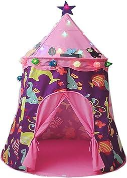 wadwo Tienda de campaña para niños Princesa Interior Juguete Casa Niño Casa Yurta Juego Casa Pequeña Tienda: Amazon.es: Juguetes y juegos