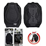Niteize Black Ballistic Nylon Heavy Duty Velcro Rugged Case for Samsung Rugby 4.