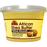 Shea Butter Yellow Smooth All Natural,100% Pure Unrefined Daily Skin Moisturizer For Face & Body Softens Tough Skin Adds…