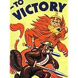 PROPAGANDA WAR WWII CANADA VICTORY LION BEAVER CIGAR ART PRINT POSTER BB7178B