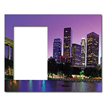 Amazon.com - Picture Frame - City Scene - Los Angeles - Holds 4x6 ...