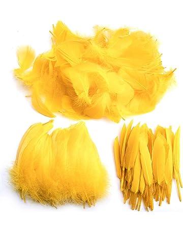 Plumas de Ganso, 250 pcs Natural Plumas manualidades de Gallo Manualidades Decoración para niña Disfraces