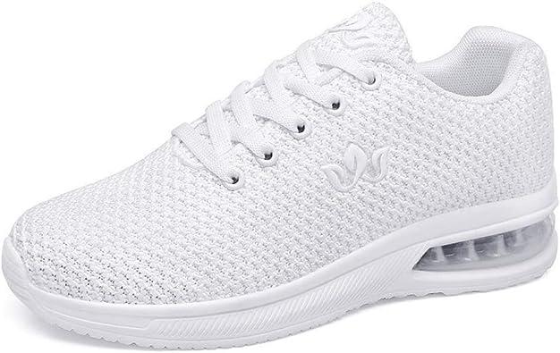 Zapatillas de Correr para Mujer Amortiguadores Antideslizantes Zapatillas de Deporte Casuales Amortiguadores al Aire Libre: Amazon.es: Zapatos y complementos