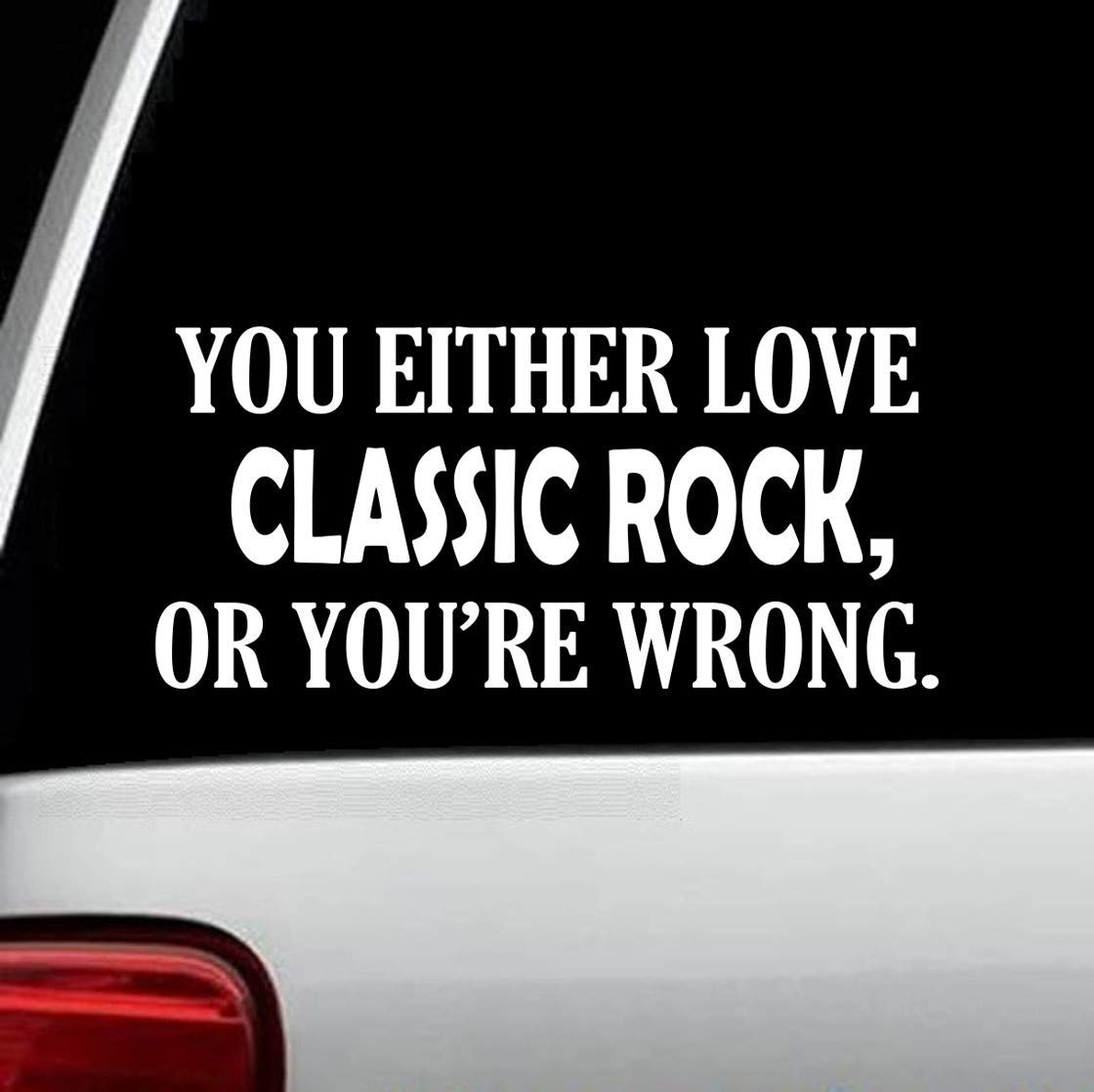Classic Rock Funny Decal Sticker for Car Window 8.0 Inch BG 255