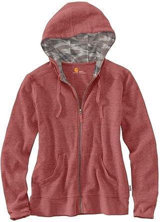 6c71b3a1 Carhartt Women's Meadow Waffle Knit Zip Front Hoodie at Amazon Women's  Clothing store: