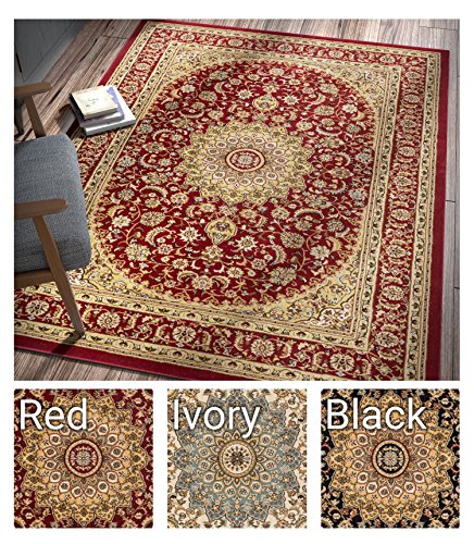 Sultan Medallion Red Oriental Area Rug 8 x 11 ( 7'10