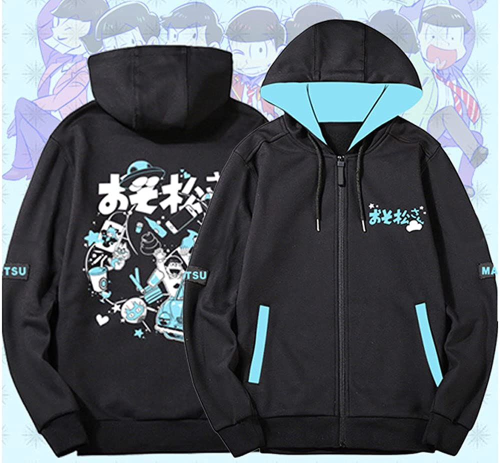 Rains Pan Anime Japanese Osomatsu San Six Same Face Cosplay Cotton Hoodies Cardigan Sweatshirts Unisex