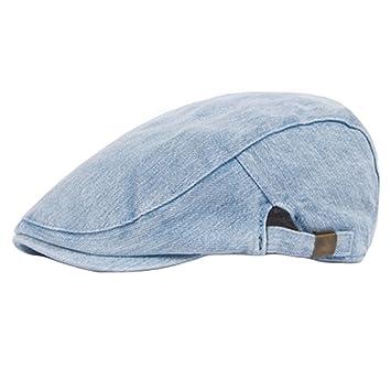 Unisex Cotton Flat Cap Caps Cabbie Hat Adjustable Driving Hat 685daa453946