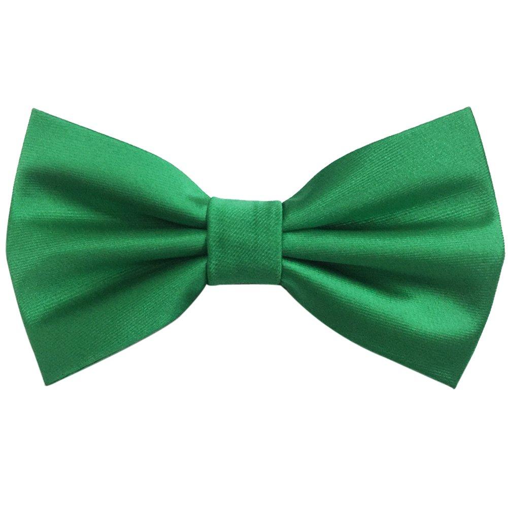 AINOW Mens Formal Classical Pre-tied Solid Color Adjustable Tuxedo Handmade Bow Tie