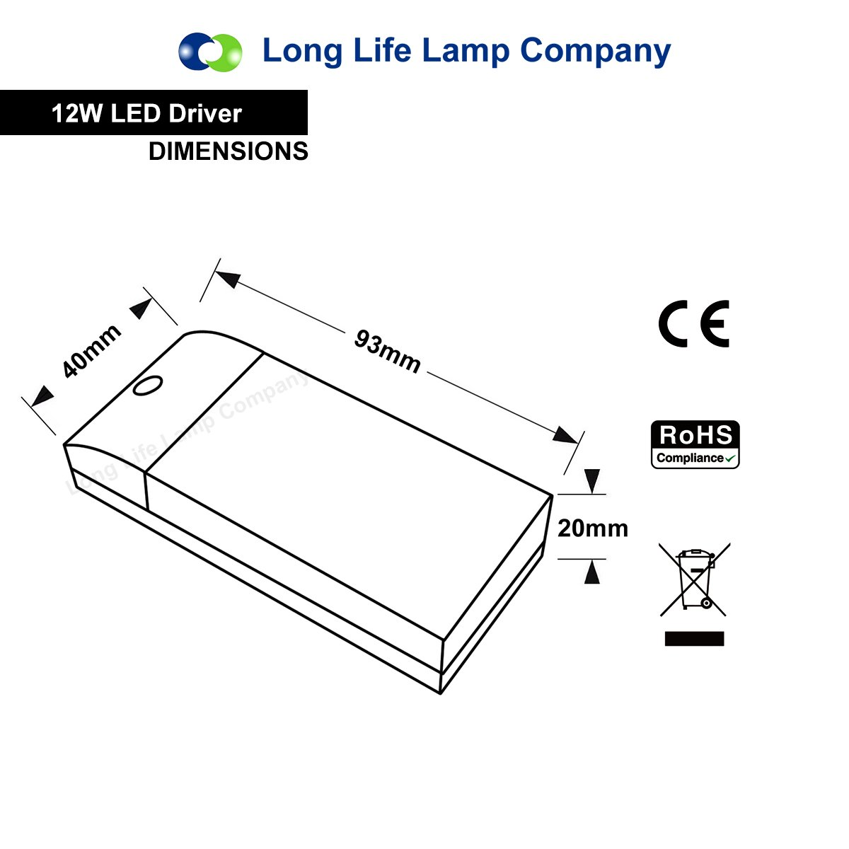 12w Led Driver Transformer For Mr16 Mr11 G4 Light Bulb By Long Together With 10 Watt Circuit On High Current Life Lamp Company Diy Tools