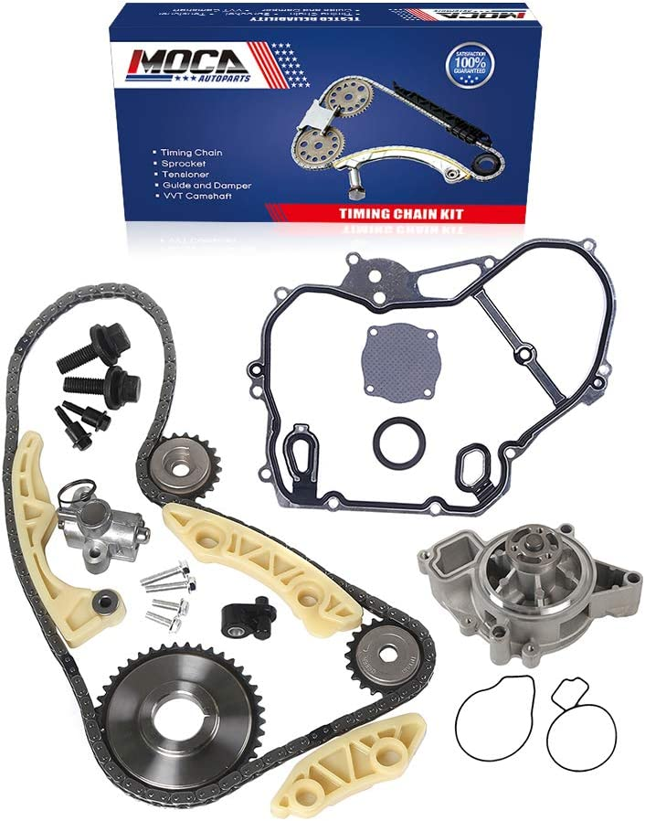 MOCA Timing Chain Kit /& Timing Cover Gasket /& Engine Fuel Injector Compatible with 04-08 for Chevrolet Malibu 2.2L /& 02-05 for Chevrolet Cavalier /& Pontiac Grand AM /& Pontiac Sunfire 2.2L L4 DOHC