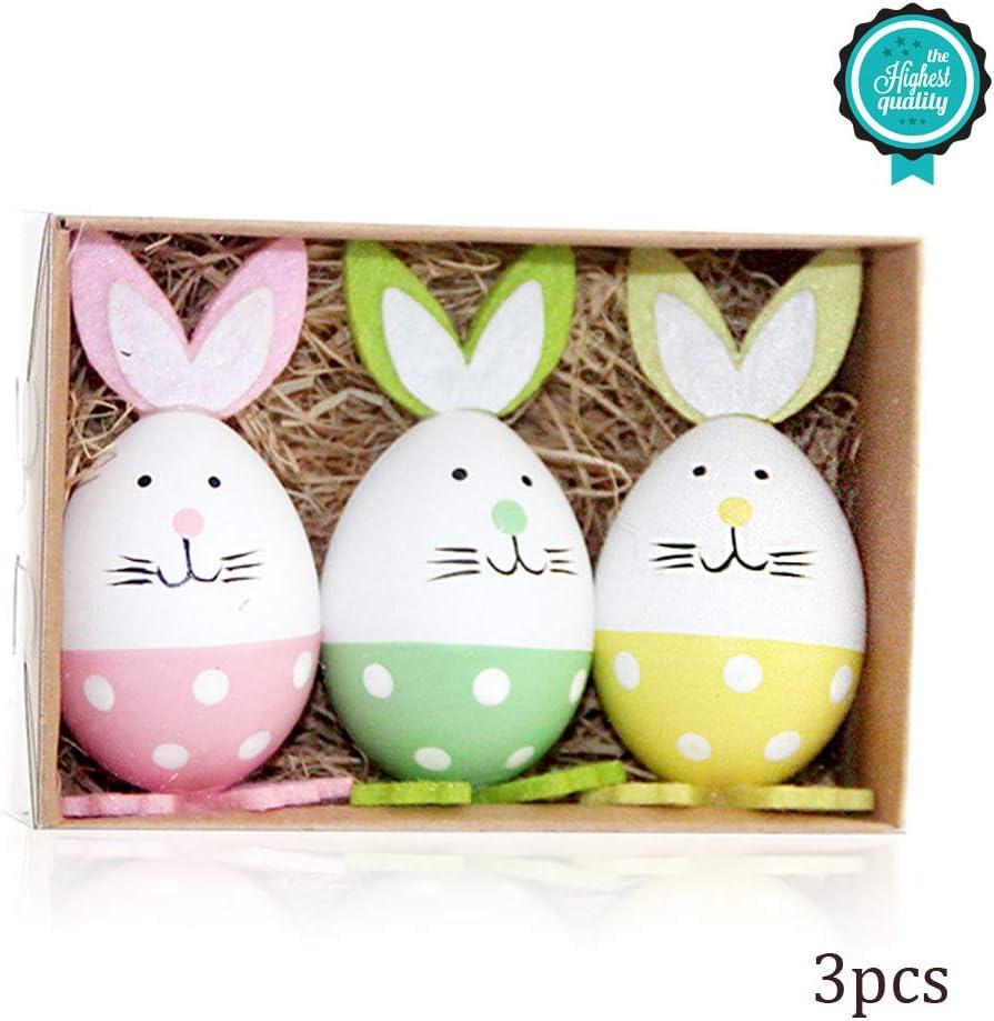 Morbuy Pascua Decoration, Huevos de Pascua Ninos Mini Juguetes Manualidades de Pascua La Decoración y El Regalo (Huevo Conejo A)