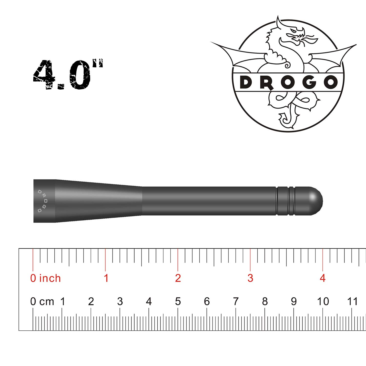 Mineral Grey DROGO 4 StandX Replacement Antenna for Ford F-150 1997-2018 FM//AM Reception Enhanced Tough Material Creative Design