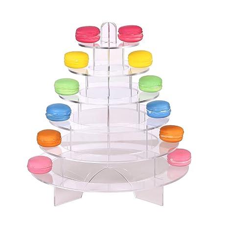 Amazon.com: ihomecooker Acrylic Sweet Stands Macaron Tower Display ...