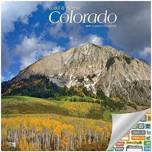 Colorado Wild & Scenic Calendar 2019 Set - Deluxe 2019 Colorado Wall Calendar with Over 100 Calendar Stickers (Colorado Gifts, Office Supplies)