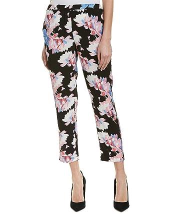 27246b981a1 Vince Camuto Women s Poetic Bouquet Slim Leg Pull-On Pants Rich Black XS 27