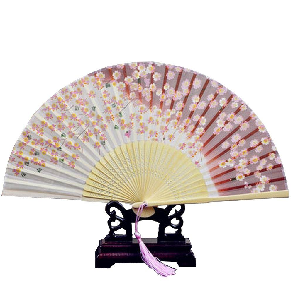 Set von 2 schöne japanische Design Handheld Folding Sommer Fan schöne Sakura