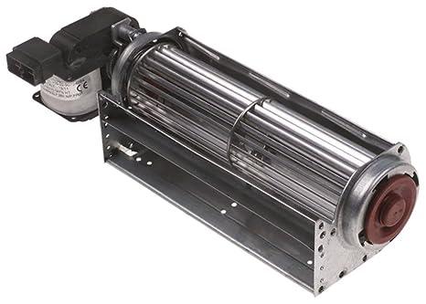 Querstromlüfter Walze ø 60mm Walze L 180mm Blechpaketstärke 16mm Motor rechts 23
