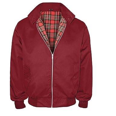 Kentex Online - Herren Klassische Harrington Scooter-Jacke im Retro-70er-Look  -