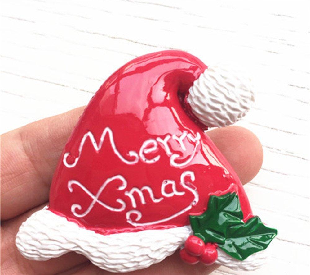 Amazon.com: CHOP MALL Christmas Kitchen Ornaments Christmas Hat ...