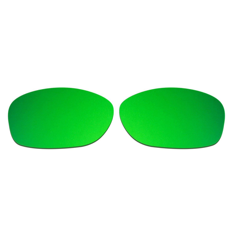 HKUCO Mens Replacement Lenses For Oakley Pit Bull Red/Emerald Green Sunglasses t23mHtg