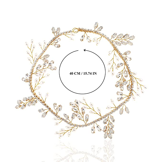 616073d8 aukmla novia brillantes diademas oro pelo piezas barato brillante ...