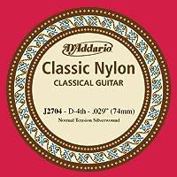 D'Addario J2704, cuerda individual de nailon para guitarra clásica, nivel principiante, tensión normal, cuarta cuerda