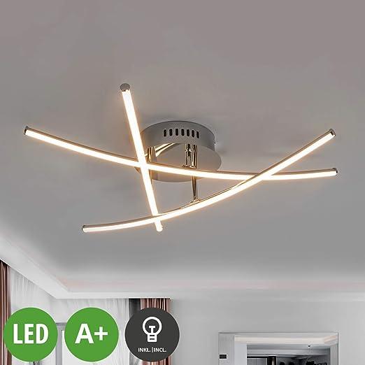 LED Lámpara de techo Yael (Moderno) en Plateado hecho de ...