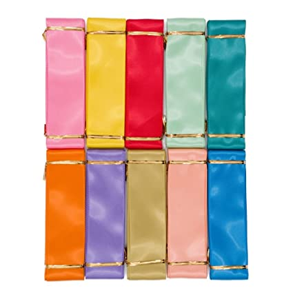 Amazon Com 50 Yards Fabric Satin Ribbons 1 5 Inch Solid Colors