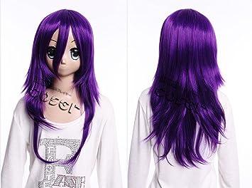 Kawaii-Story W DE 17 DE bc34 Lila Purple 60 cm Cosplay Peluca Wig Perruque