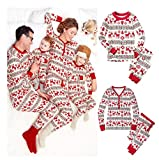 Christmas Family Matching Pajamas Reindeer Xmas Sleepwear Clothes Sets (Medium, DAD)
