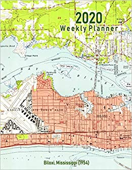 Amazon Com 2020 Weekly Planner Biloxi Mississippi 1954