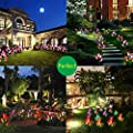 Outdoor Solar Garden Stake Lights,Upgraded LED Solar Powered Light, Multi-Color Auto-Changing 8 Bigger Lily Flower Decorative Lights for Garden,Patio,Backyard