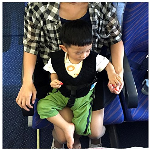Image: Hiltow Baby Travel Safety Vest | 3-in-1 Toddler safety Vest on plane, train, or bus