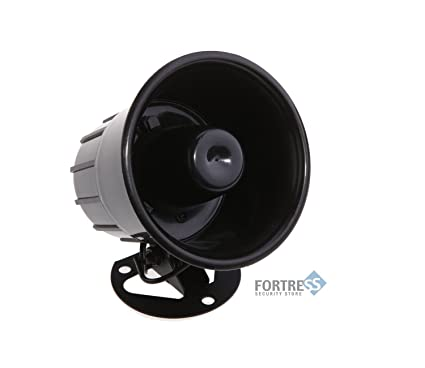 Fortress Security Store (TM) Loud Indoor / Outdoor Weatherproof Black Siren  For DIY S02
