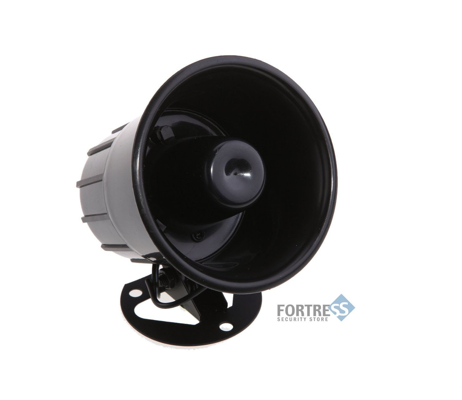 Fortress Security Store (TM) Loud Indoor/Outdoor Weatherproof Black Siren for DIY S02/GSM Home and Business Alarm Security Systems