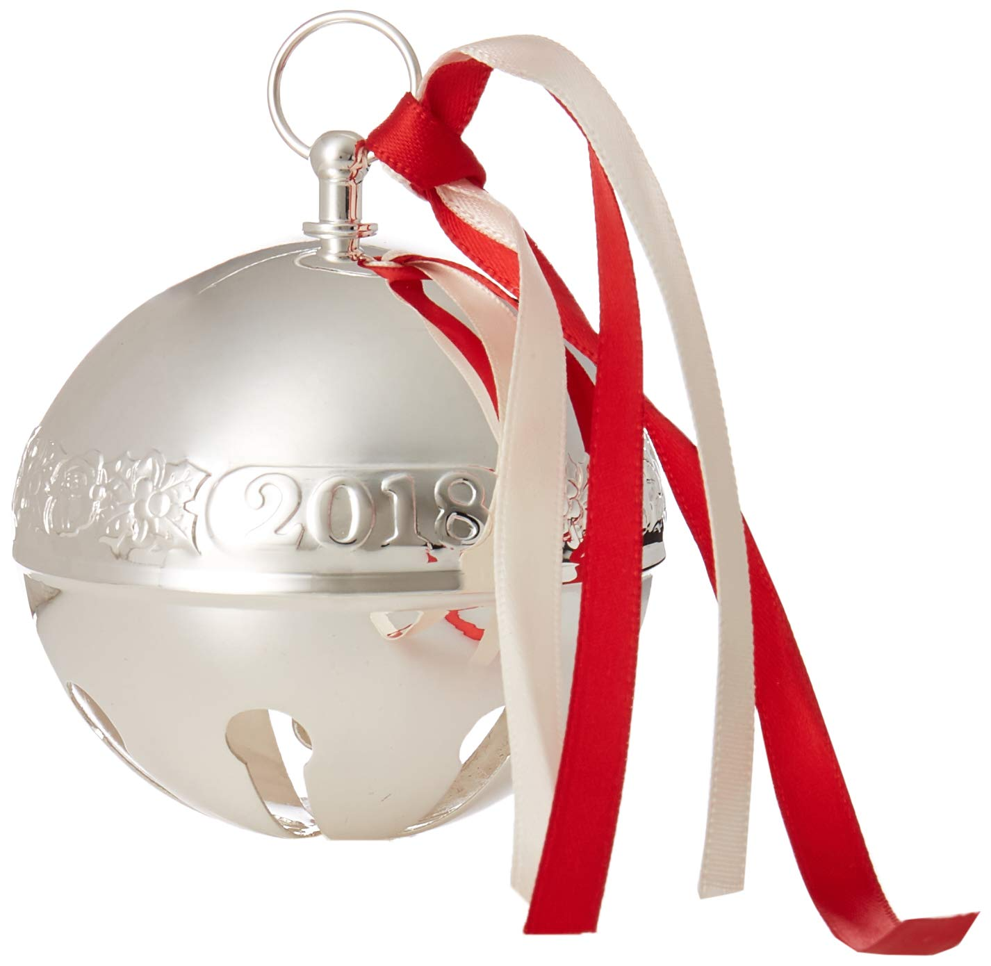 Wallace 2018 Sleigh Bell Silver-Plated Christmas Holiday Ornament, 48th Edition
