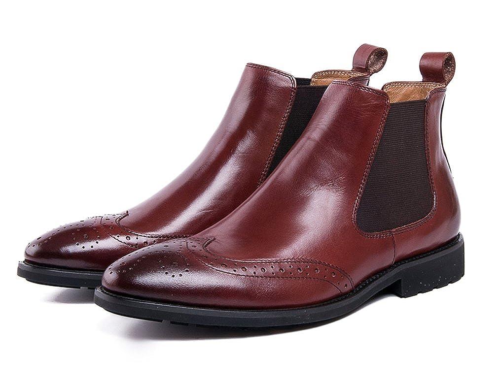 FARYM Men's Cow Leather Brogue Style Chelsea Boots: Amazon.ca: Shoes &  Handbags